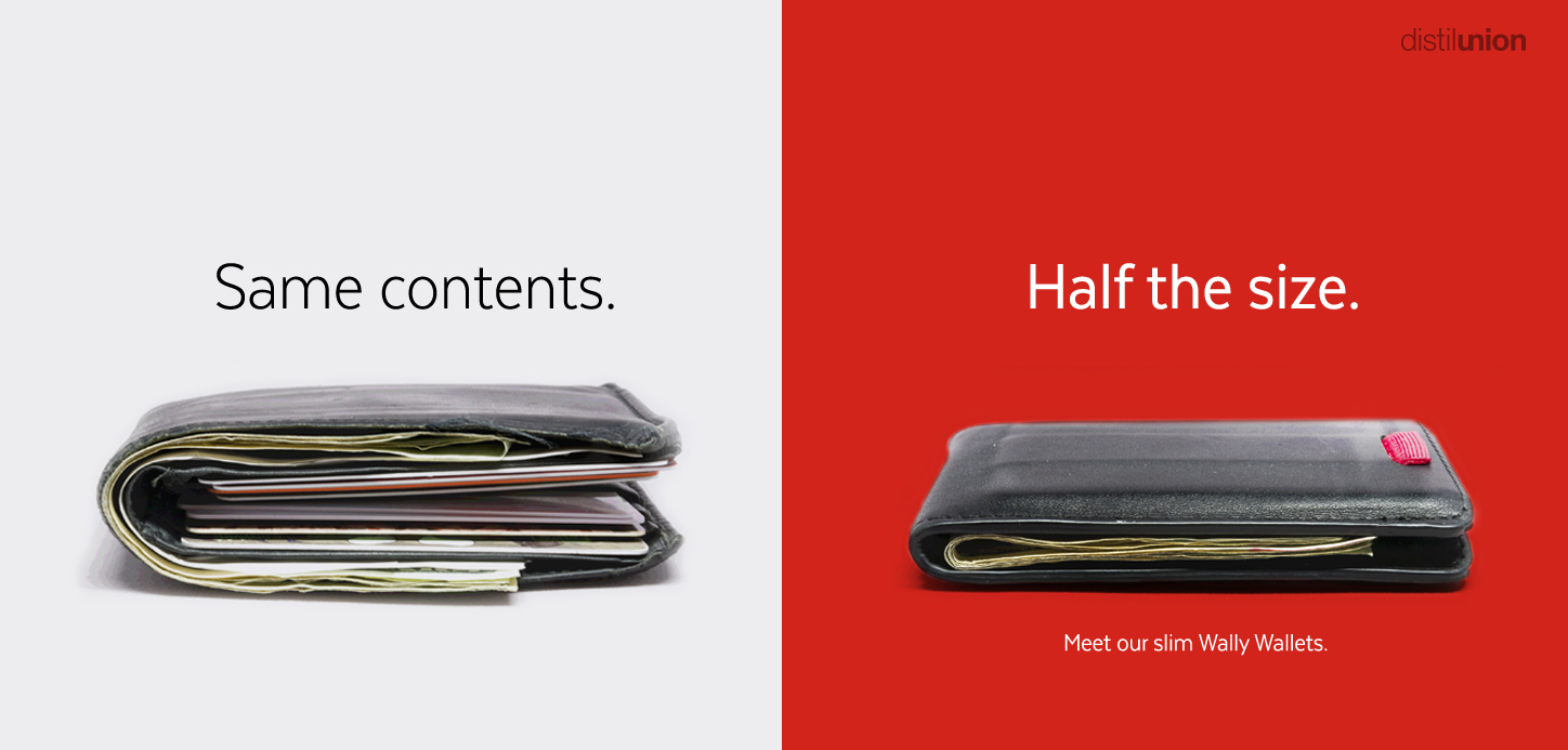 Thick wallet and thin wallet