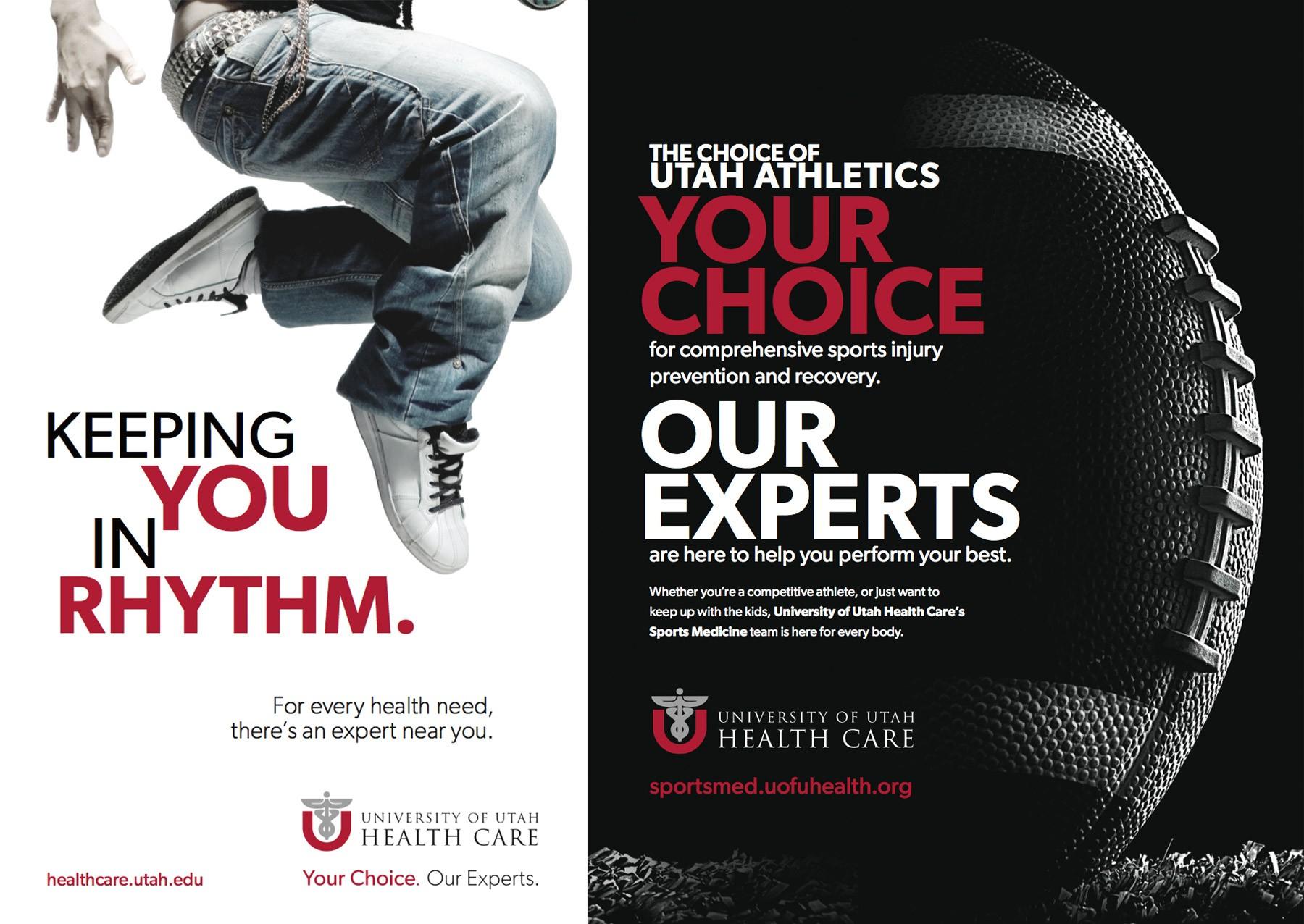 University of Utah Healthcare promotional images