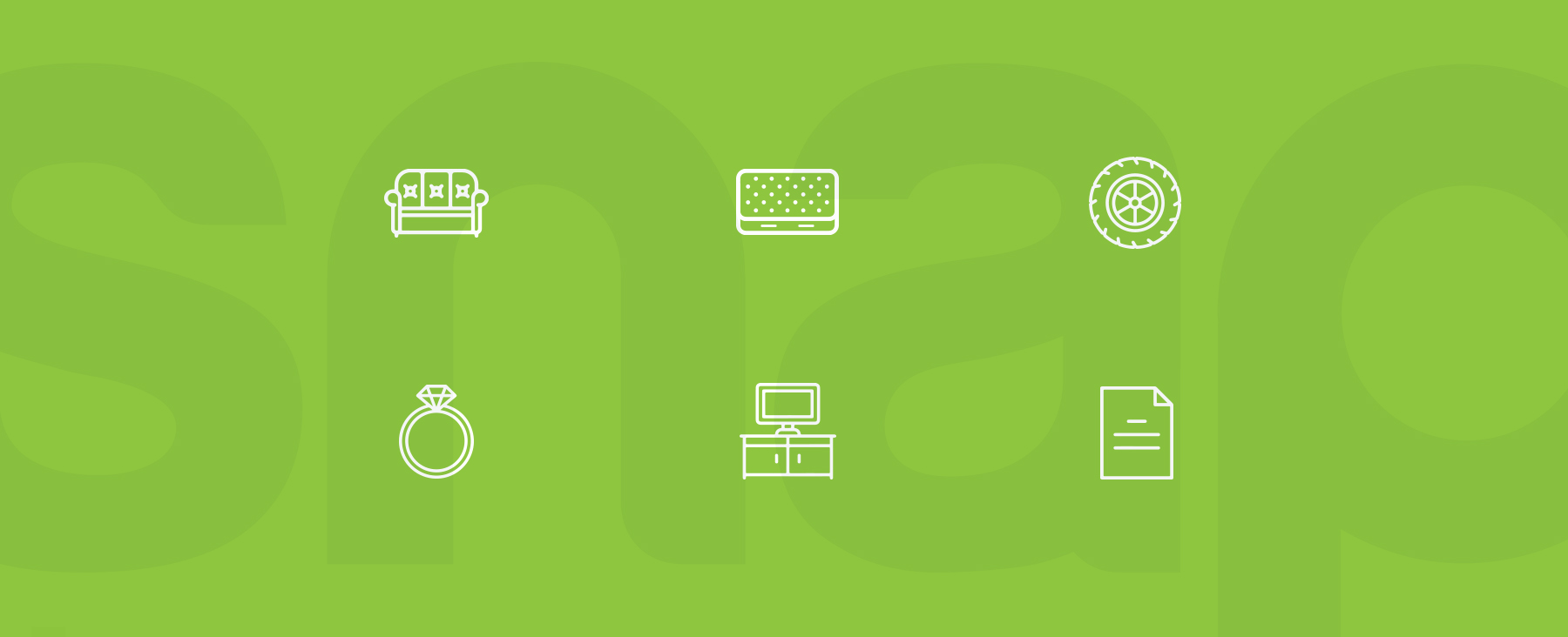 Snap Finance icons graphic