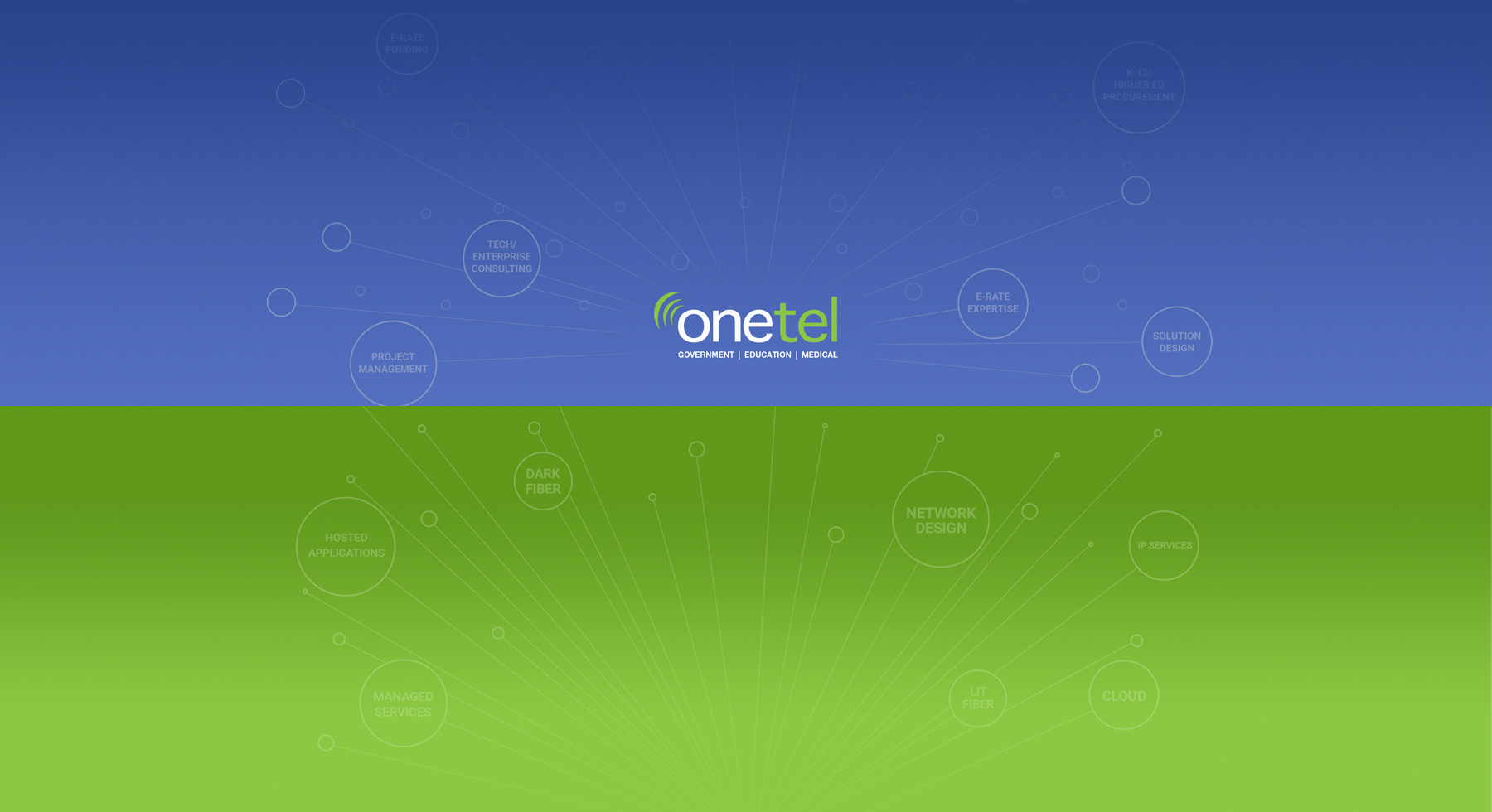 OneTel services promotional graphic