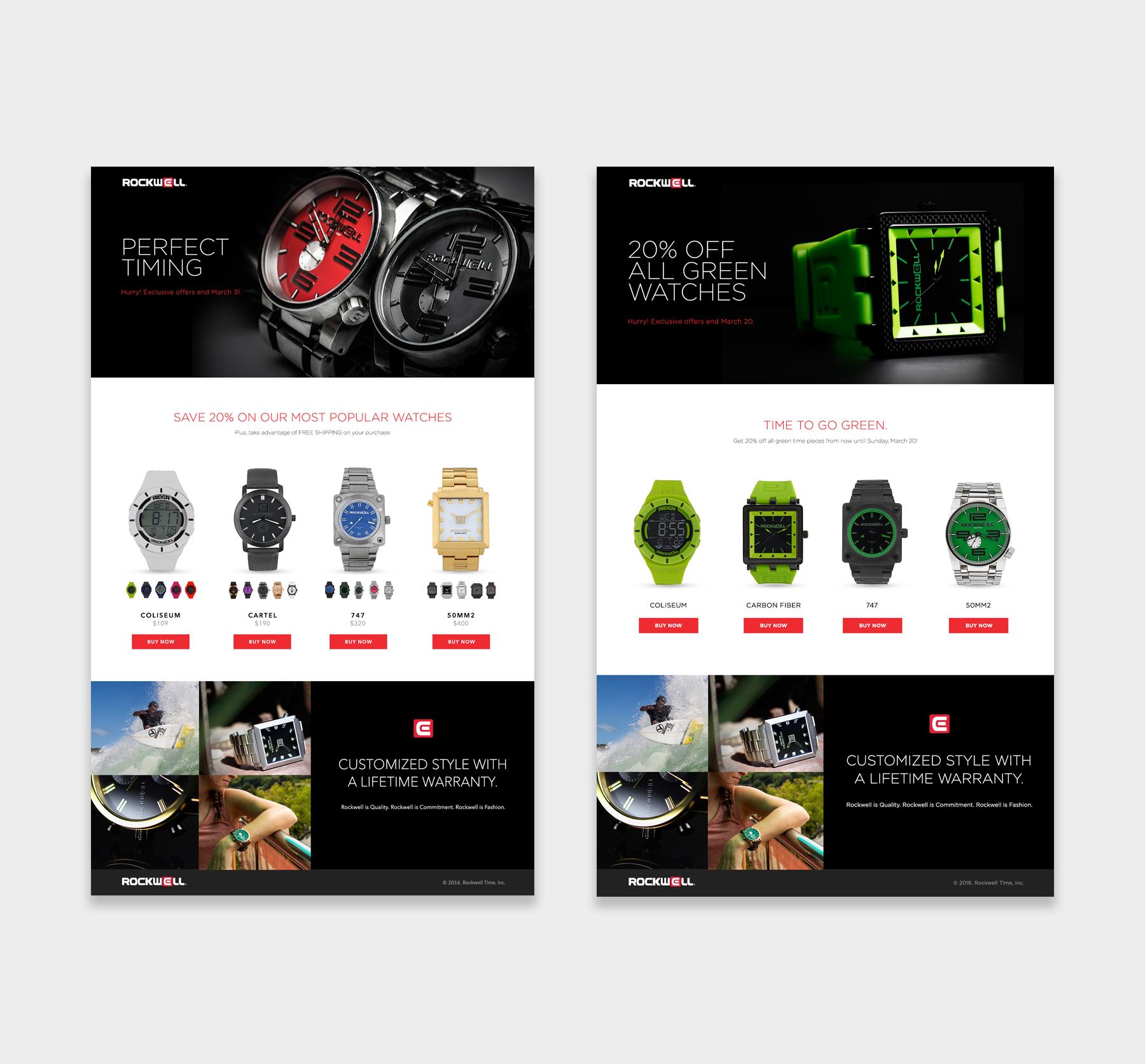 Rockwell Time website screenshots