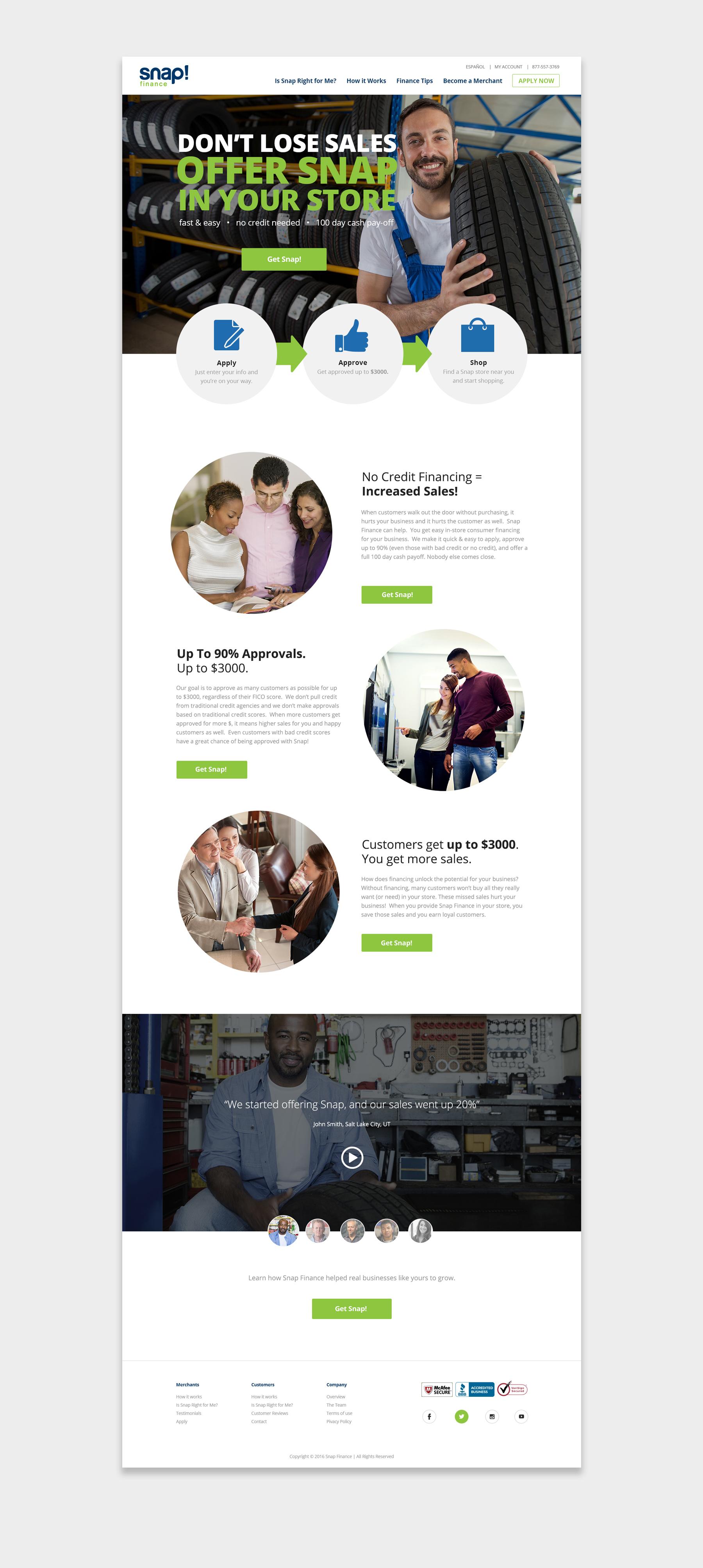 Snap Finance website screenshot