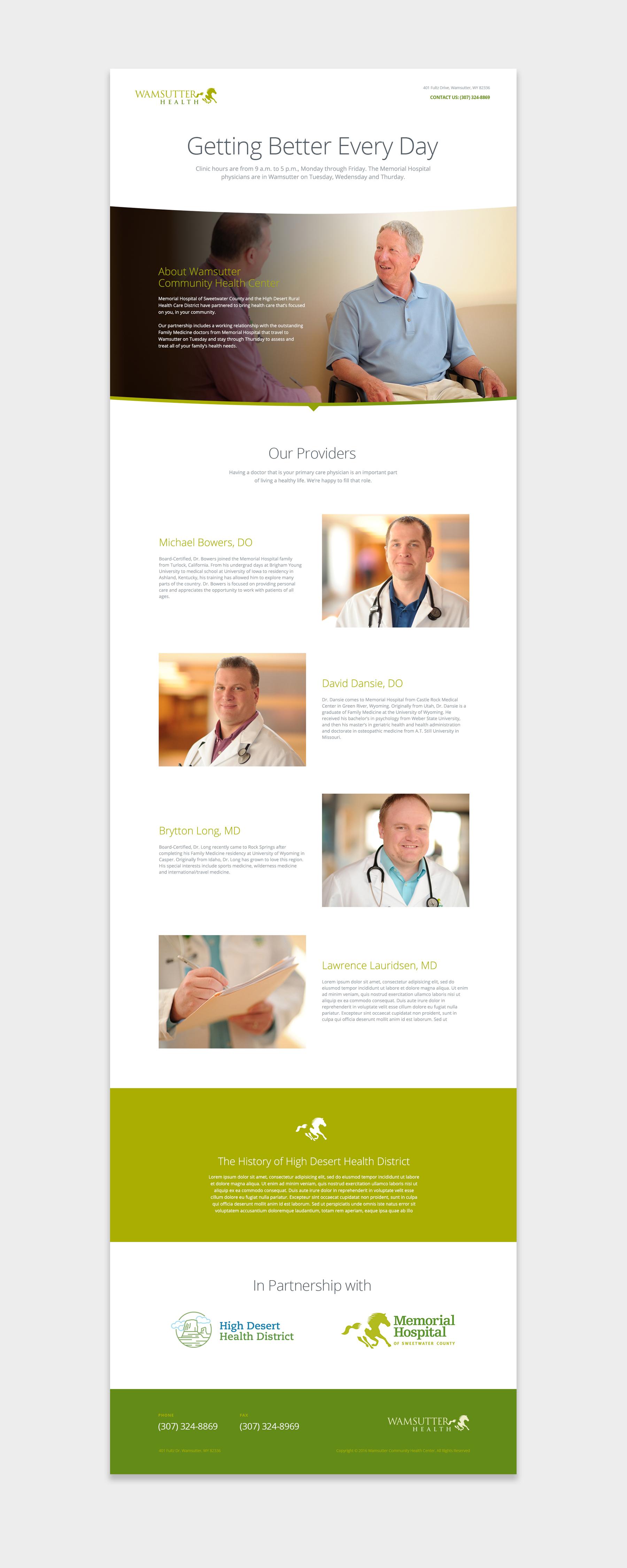 Wamsutter Health website screenshot