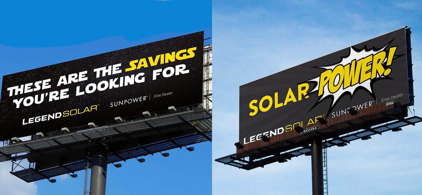 Legend Solar billboards