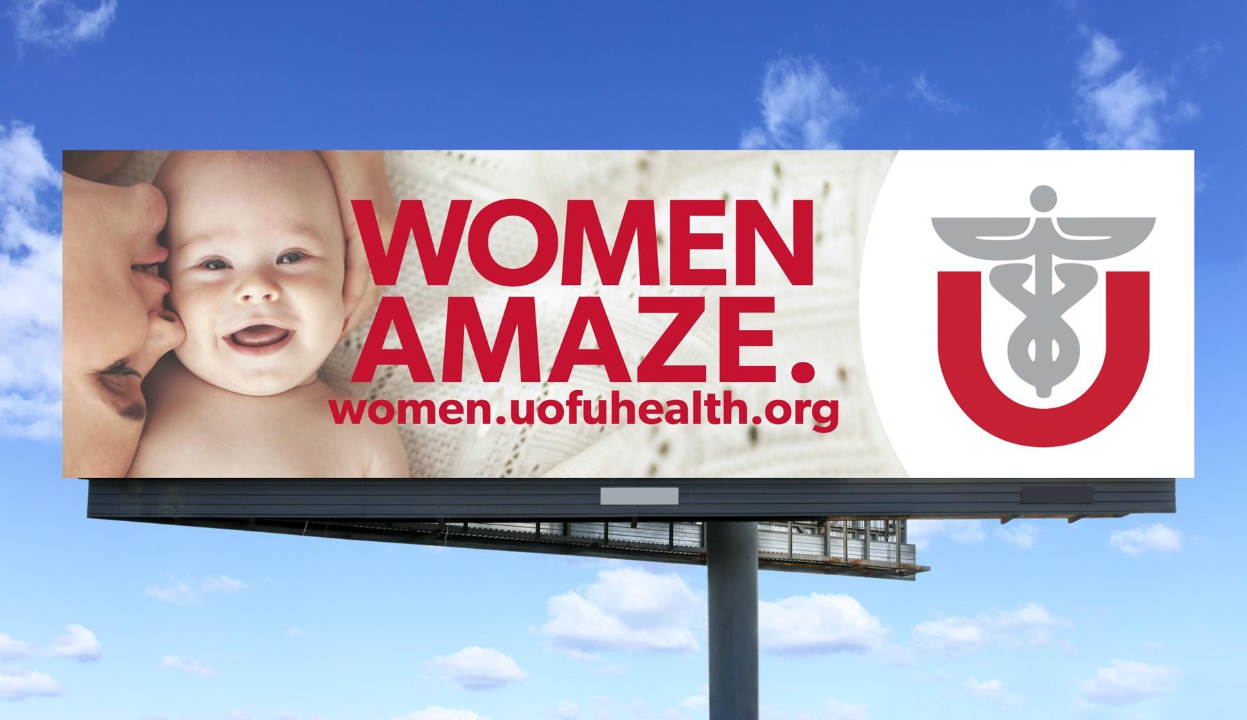 University of Utah Healthcare women amaze billboard