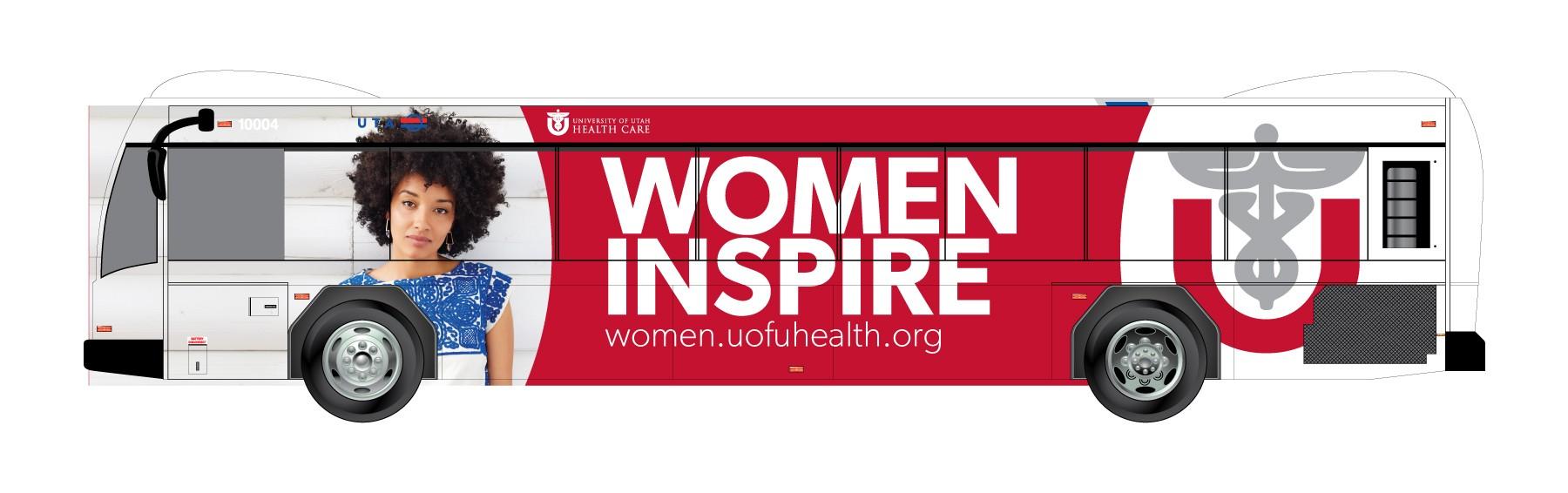 University of Utah Healthcare bus advertisment