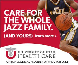 University of Utah Healthcare web advertisment Jazz basketball