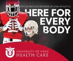 University of Utah Healthcare web advertisment football players