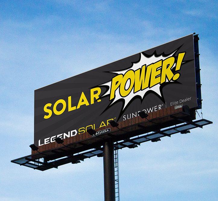 Legend Solar power billboard