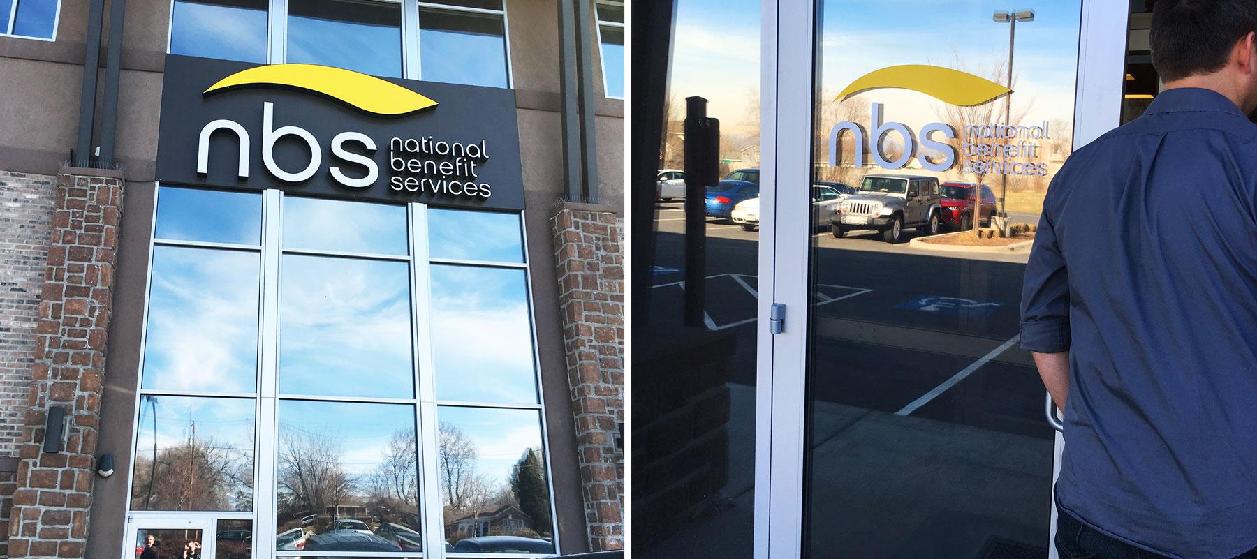 NBS logo on office building
