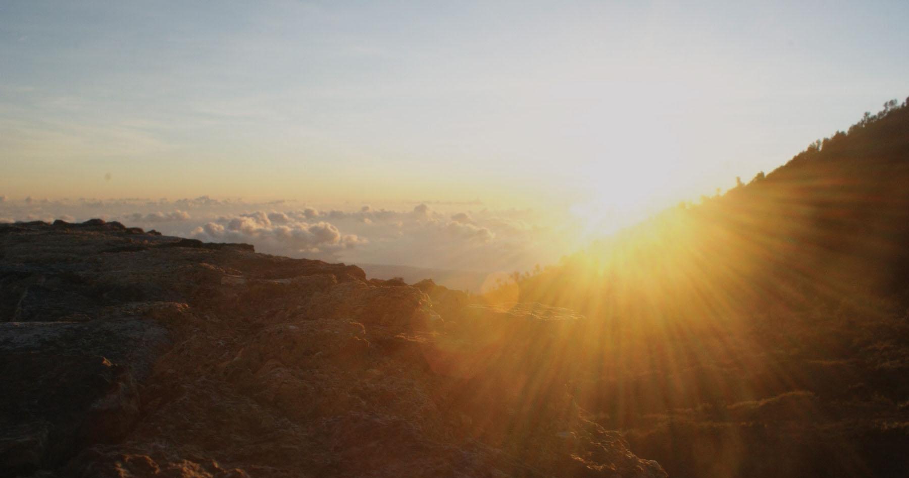 Landscape with sunrise