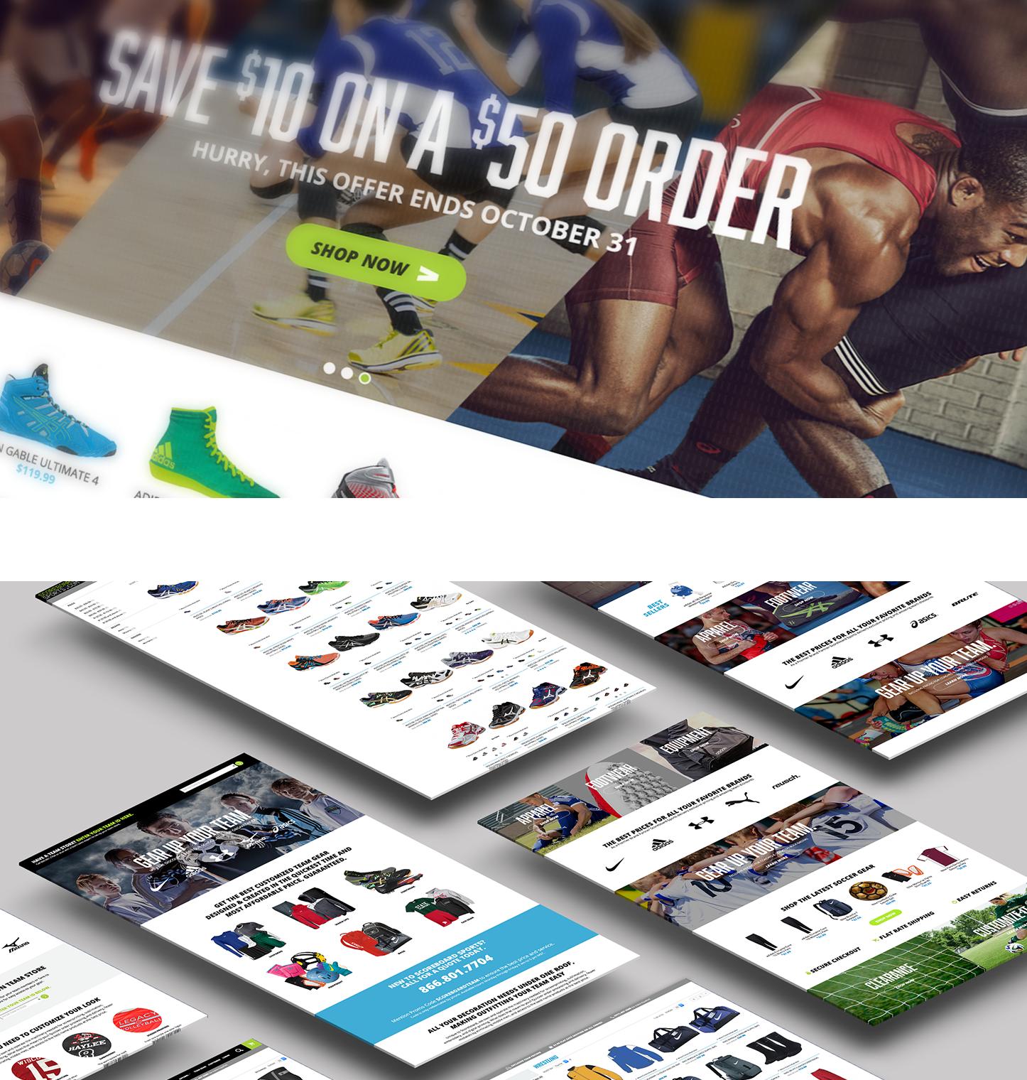 Scoreboard Sports website screenshots
