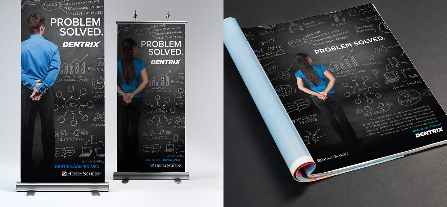 Dentrix banners and print media