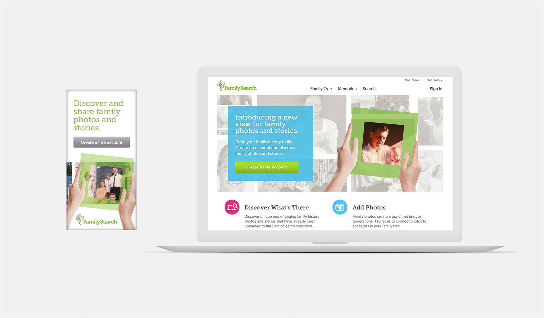 FamilySearch Website and Banner Screenshot
