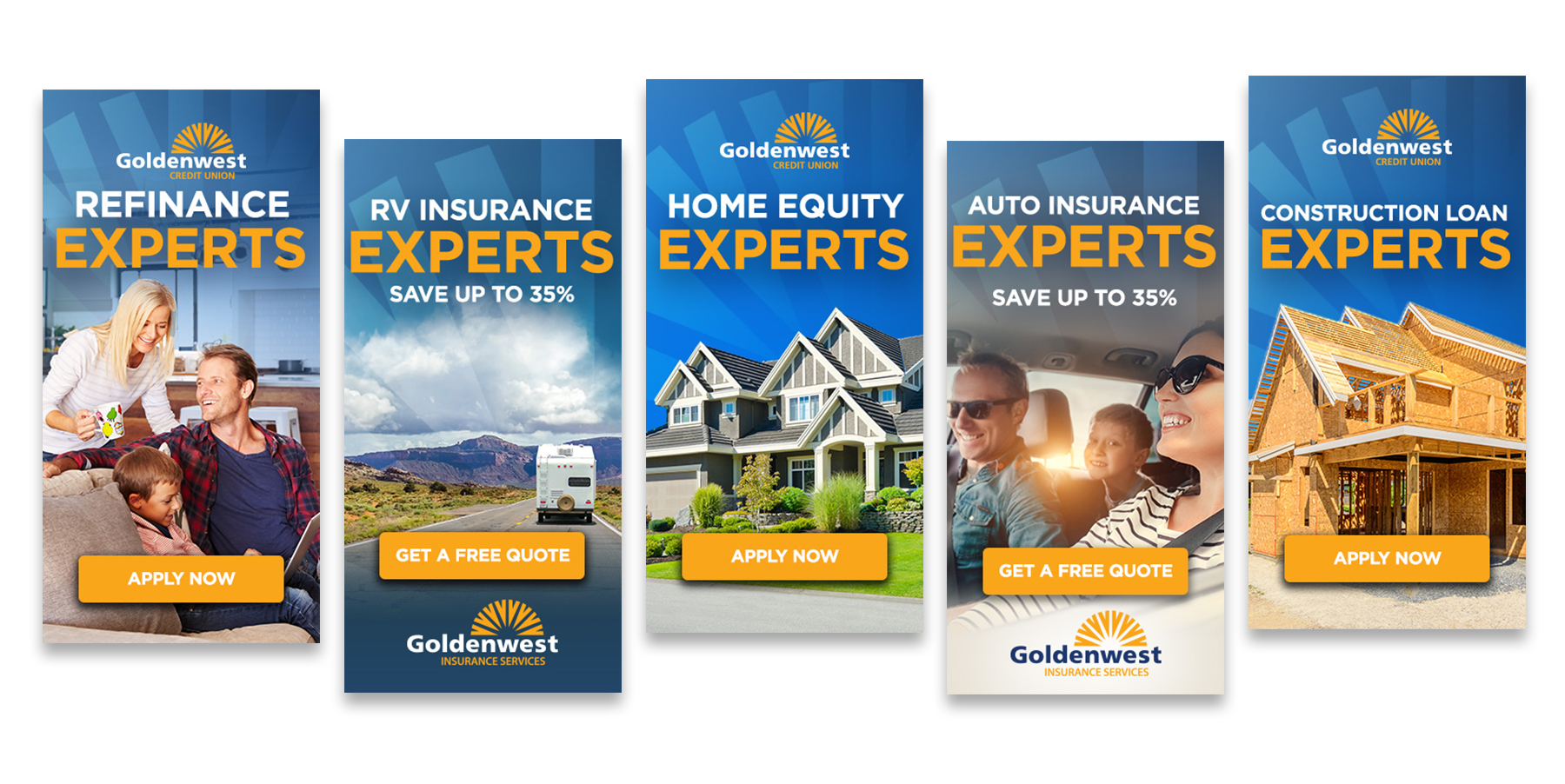 Goldenwest Credit Union Experts Banners